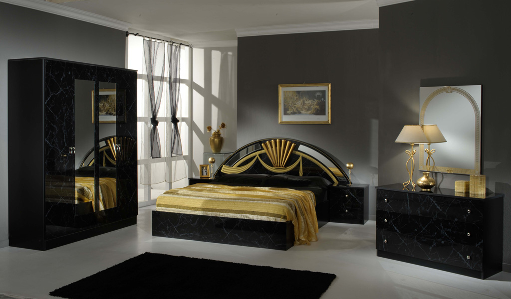 SELMA   marble black   gold. Eco Bedroom