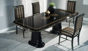 GINA [ table black / gold ]
